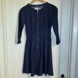 Topshop Moto blue denim dress Size 0